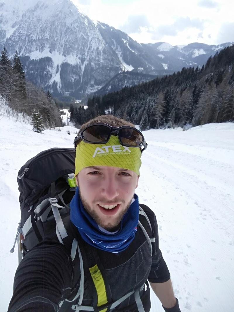 výstup sjezdovkou z Wurzeralm ski